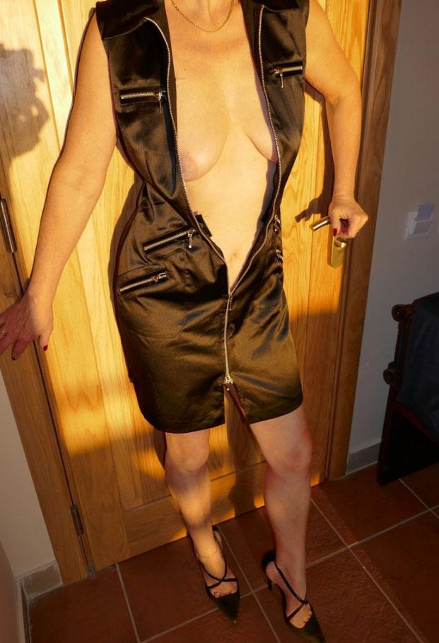 Seins nus sous ma robe